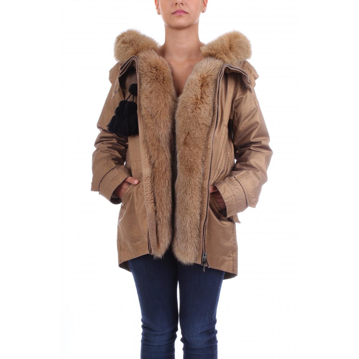 on sale dd779 b177d Peuterey Parka Donna In Twill di Puro Cotone Bordato in ...