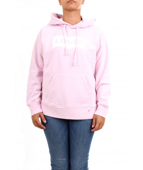 Levi's Donna Felpa Graphic Sport Hoodie Rosa