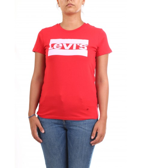Levi's Donna T-shirt The Perfect Tee Logo Rossa