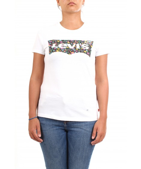 Levi's Donna T-shirt The Perfect Tee Logo Bianca