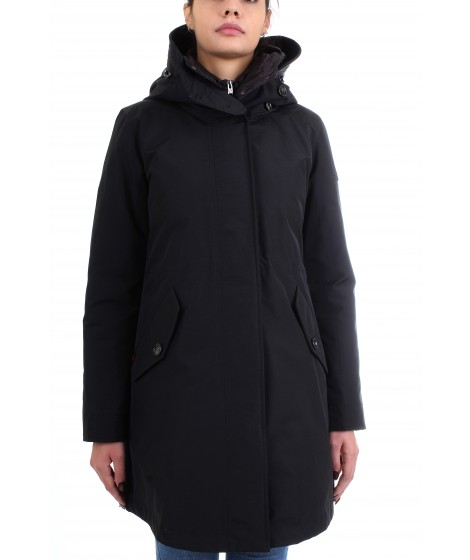 Woolrich Donna Long Military Parka Nero