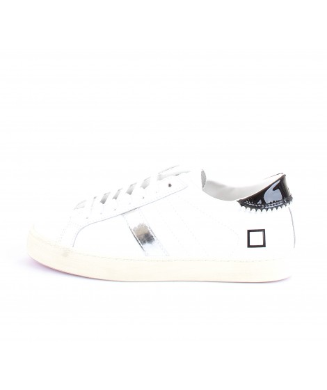 D.A.T.E. Donna Sneakers Hill Low Calf Pearls White