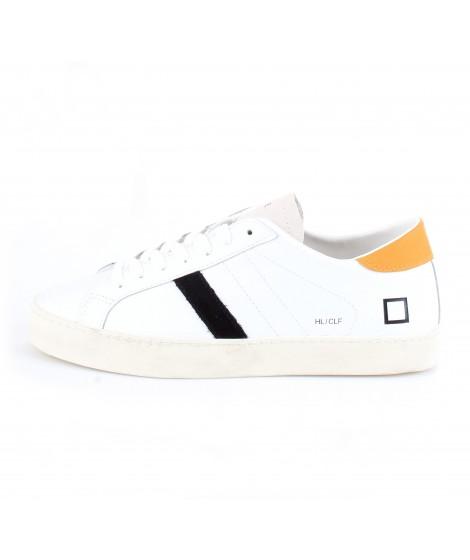 D.A.T.E. Uomo Sneakers Hill Low Calf White-Orange