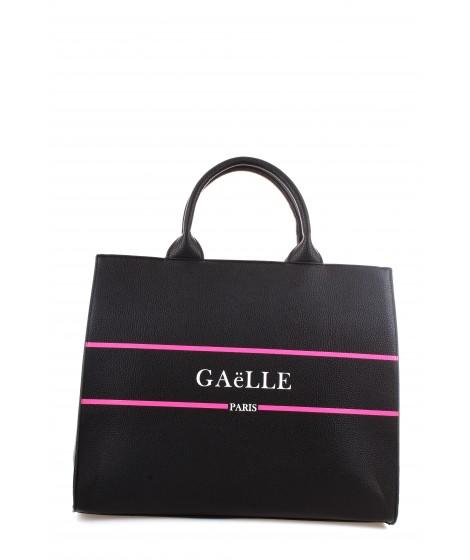 Gaelle Paris Shopper con Manici Nera