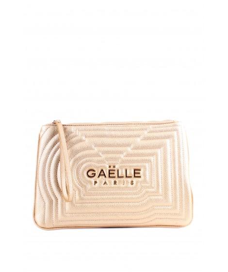 Gaelle Paris Borsa da polso con Logo Oro