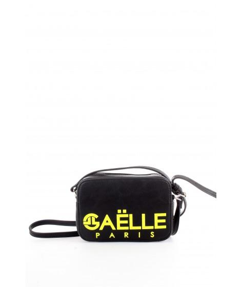 Gaelle Paris Tracolla con Maxi Logo Stampato Nera