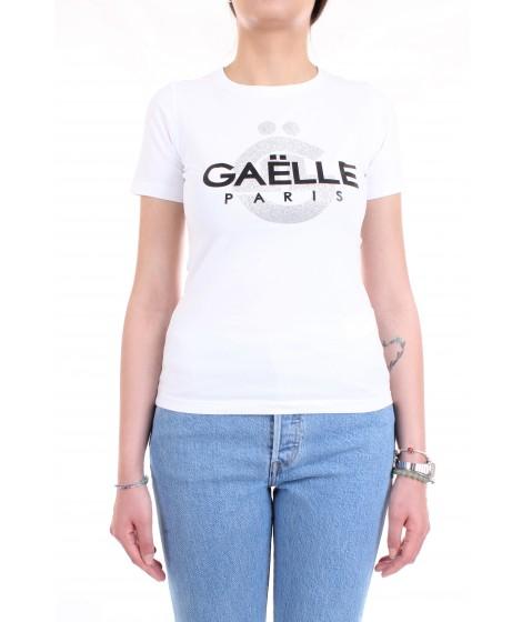 Gaelle Paris donna T-shirt GBD6100 Bianco