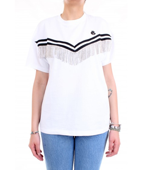 Gaelle Paris Donna T-shirt GBD5850 Bianco