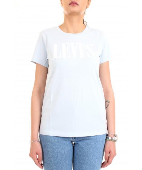 Levi's Donna T-shirt The Perfect Tee Celeste