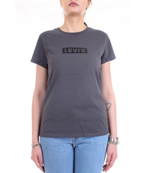 Levi's Donna T-shirt The Perfect Tee Grigio