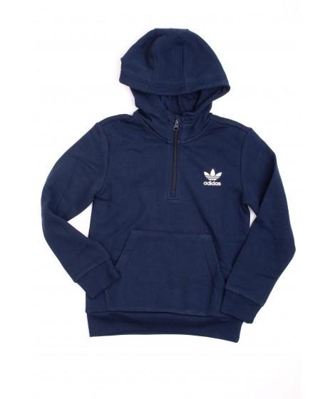 Adidas Bambino Felpa Hoodie 1/2 Zip DH2701 Blu