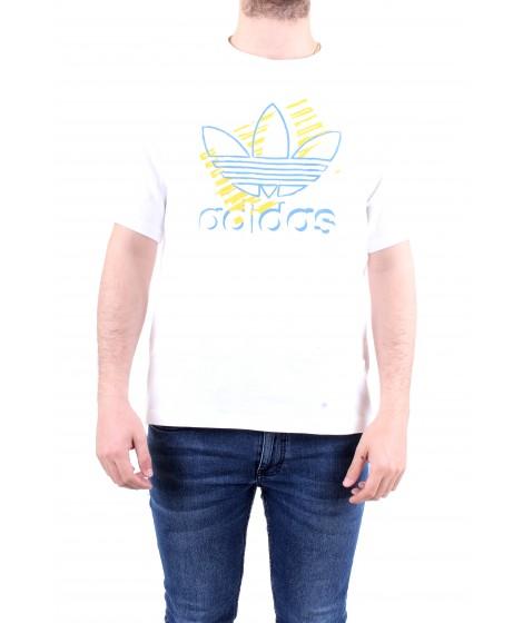 Adidas Originals T-shirt Trefoil Art Tee Bianca