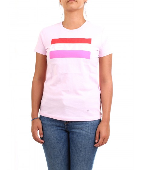 Levi's Donna T-shirt The Perfect Tee Logo Rosa