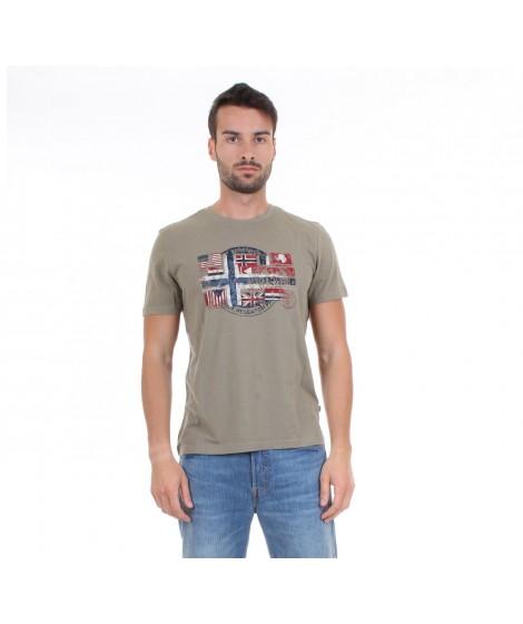 Napapijri T-shirt Uomo M.C. SEY Col. Khaki