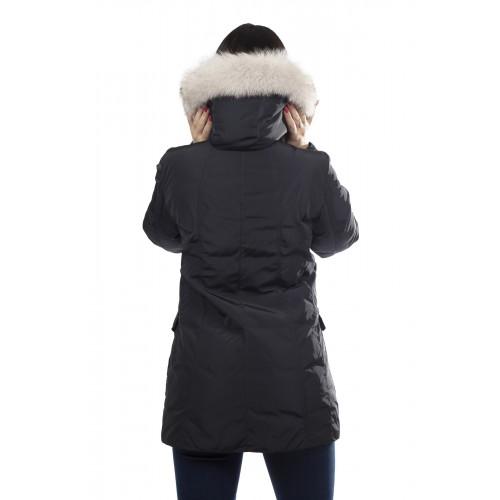 lowest price 238ec c7cd5 Peuterey Giaccone Donna Regina Fur con Bordo in Volpe Blu