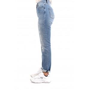 Gaelle Paris Donna Jeans con Logo Strass GBD4509