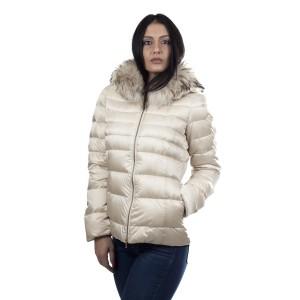 Geospirit Piumino Donna Con Pelliccia Trixie Fur disponibile Crema e Nero
