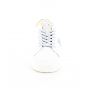 D.A.T.E. Donna Sneakers Vertigo Calf White-Yellow