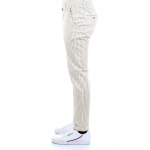 Camouflage Uomo Pantaloni CHINOS SAND N10 A Righe Beige
