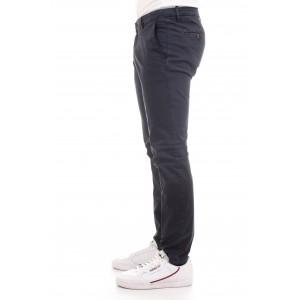 Briglia Uomo Pantaloni Tessuto Microrighe col. Blu