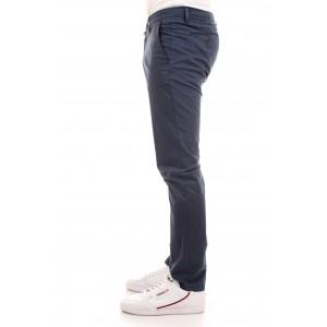 Briglia Uomo Pantaloni Tasche America In Gabardine col. Blu