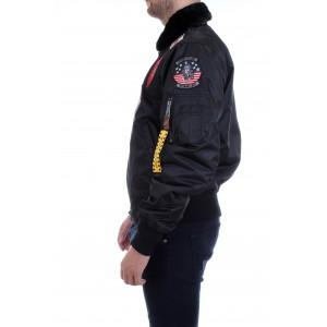 Top Gun Uomo Iceman Bomber Nero