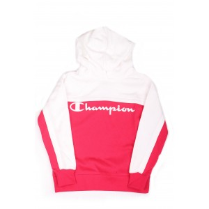 Champion Bambina Felpa Breaking Rules Logo Fuxia