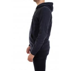 Woolrich Felpa uomo Logo Hoodie Blu