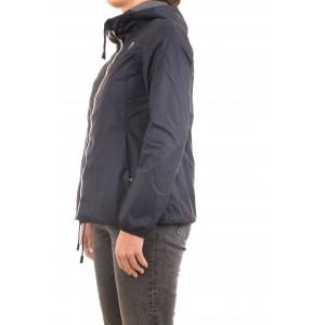 K-way Donna Giacca Marguerite Poly Jersey Blu