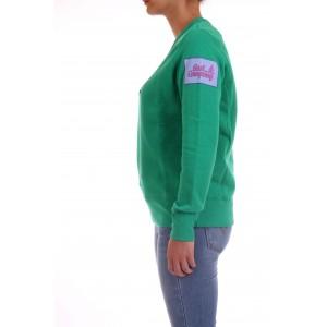 Best Company Felpa Donna Girocollo in caldo cotone Verde Brillante