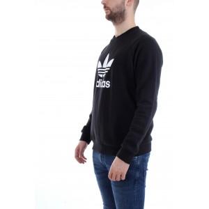 Adidas Felpa Trefoil Crew Nera