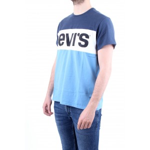 Levi's T-shirt Short Sleeve Colorblock Tee Blu-Bianca-Azzurra
