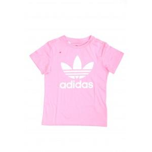Adidas Bimbo/a T-shirt Trefoil Tee Rosa