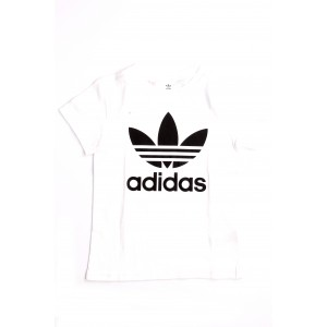 Adidas Bimbo/a T-shirt Trefoil Tee Bianca