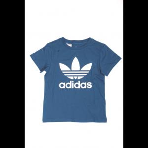 Adidas Bimbo/a T-shirt Trefoil Tee Verde Blu