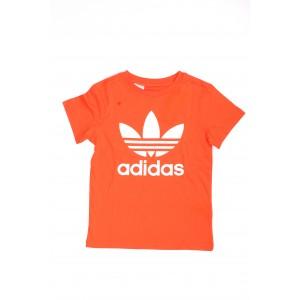 Adidas Bimbo/a T-shirt Trefoil Tee Arancione