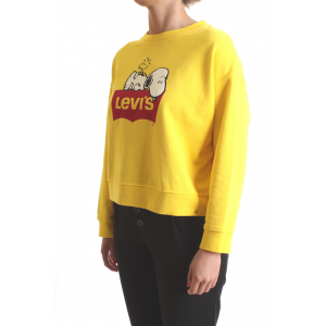 Levi's Donna Felpa Graphic Weekend Crew Gialla