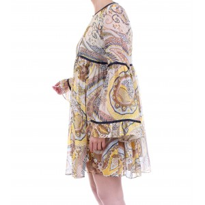 Scee by Twinset Abito Morbido Stampa Paisley Multicolor