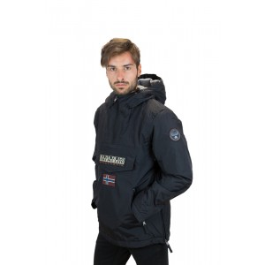 Napapijri Uomo Giubbotto Rainforest Winter Pockets Disponibile Nero e Blu