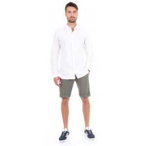 DNL Camicia Uomo Bianca e Micro Pattern Geometrico Tono su Tono
