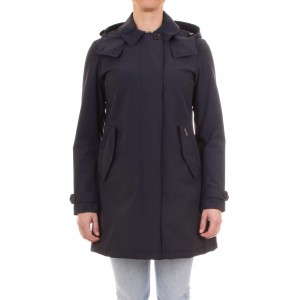 Woolrich Trench Donna Charlotte Coat Blu