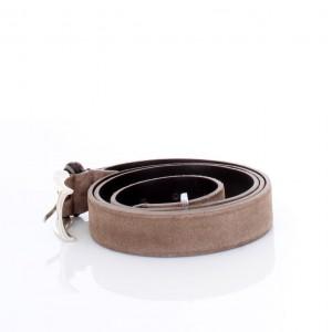 New Belt Milano Cintura in Pelle Scamosciata Beige