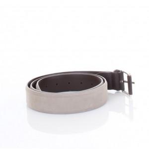 G. Lisco Cintura in Pelle Scamosciata Beige Tortora
