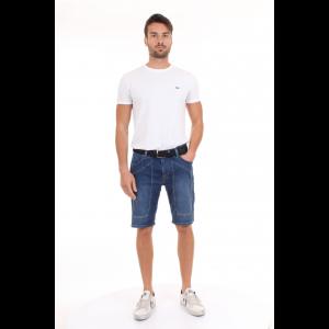 Jeckerson Bermuda in Jeans con Maxi Toppe