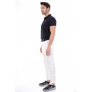 Jeckerson Pantaloni Uomo Ankle Chino Skin Bianchi