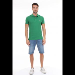 Lacoste Polo Slim Fit in Petit Piqué Verde