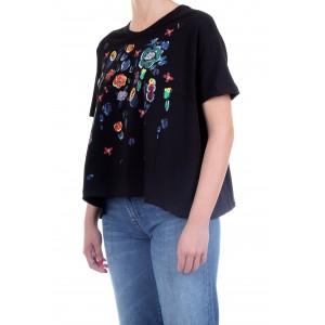 Silvian Heach Donna T-shirt OVER TACURU Nera