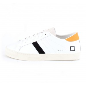 D.A.T.E. Uomo Sneakers Hill Low Calf White-Orange