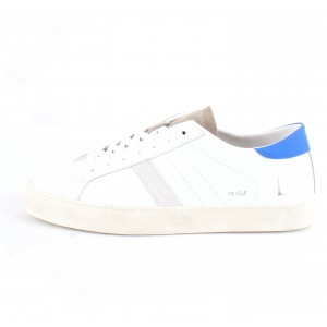 D.A.T.E. Uomo Sneakers Hill Low Calf White-Blue