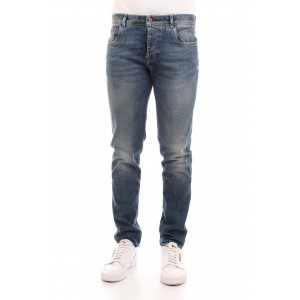Camouflage Uomo Jeans D26 A342 Blu